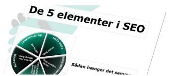 Nyhedsbrev og e-guiden De 5 Elementer i SEO