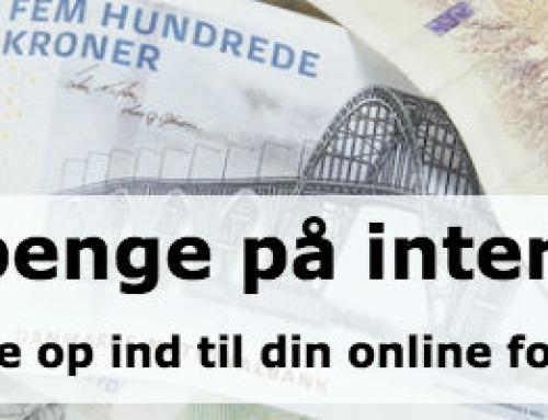 Tjen penge på internettet
