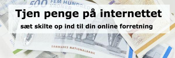 Tjen penge på internettet sæt skilte op til dine online forretning