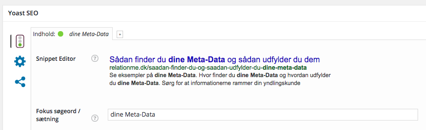 SEO by Yoast opdateret med direkte redigering i snippets