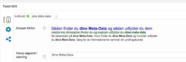 Ny version af Yoast og hvordan du udfylder dine Meta Data