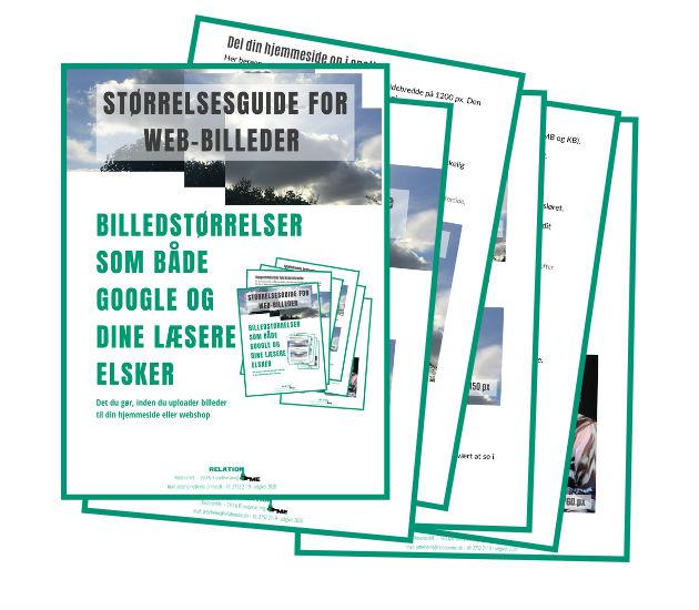 tilmeld dig nyhedsbrevet og få tilsendt en guide om WEBBILLEDER